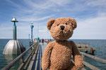 Hier bin ich auf der Zingster Seebrücke in Singst an der See