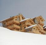 Vue façade en hiver