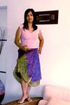 jupes mi longue pure soie violette