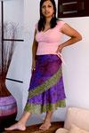 Jupe en pure soie violette