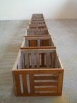 Parkettkisten, Holz 25x25cm