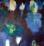 Deep blue, Acryl auf Leinwand 80x80cm