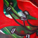 Blütenzweig, Acryl auf Leinwand 80x80cm