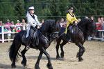 Loretto und Belmondo am Fest der barocken Pferde, Nockalm