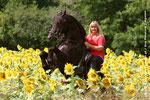 Cordula und Agelan - ein perfektes Foto im Sonnenblumenfeld! Fotografiert von Eva Potocnik