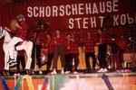 1. Auftritt 1986 bei der KSG-Fastnacht mit Gitarre (Dieter Zeller). Nach der Fastnacht 1986 bekam die Gruppe mit Georg Günther ein neues Mitglied.