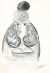 ohne Titel, Zeichnung, 22,5x15,5 cm [ID Z09]