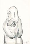 ohne Titel, Zeichnung, 22,5x15,5 cm [ID Z10]