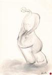 ohne Titel, Zeichnung, 22,5x15,5 cm [ID Z12]