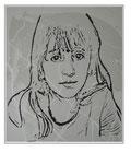 'Child portrait #2' Formaat (bxhxd): 60x80x1,5