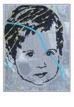 'Child portrait #1' Formaat (bxhxd): 50x50x4