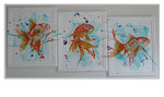 'Swimming across the canvas' Size: 142x67x1,5