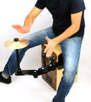 cajon sound bridge shaker jingle splash zusatzinstrument add on spielen weltneuheit tools im sitzen