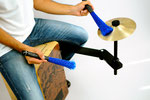 cajon sound bridge shaker jingle cymbal splash zusatzinstrument add on spielen weltneuheit tools brush