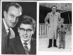 mit 10 und 14 Jahren mit meinen Vater