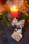 Gastgeschenk Hochzeit: Badesalz. Hochzeitsthema: Meer/blau