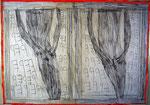Josef Hofer, ohne Titel, VIII 2014, Bleistift und Farbstifte auf Papier, 50 x 70 cm, verfügbar / disponible / available: Elisabeth Telsnig, Elsbethen