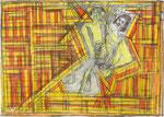Josef Hofer, ohne Titel, 2006, Bleistift und Farbstifte auf Papier, 44 x 60 cm, Privatbesitz / propriété privée / private property