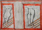 Josef Hofer, ohne Titel, III 2016, Bleistift und Farbstifte auf Papier, 29,6 x 42 cm, verfügbar / disponible / available: Elisabeth Telsnig, Elsbethen
