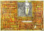 Josef Hofer, ohne Titel, VIII 2004, Bleistift und Farbstifte auf Papier, 51 x 73 cm, verfügbar / disponible / available: Galerie Christian Berst Paris