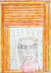 Josef Hofer, ohne Titel, V 2014, Bleistift und Farbstifte auf Papier, 42 x 29,6 cm, verfügbar / disponible / available: Elisabeth Telsnig, Elsbethen