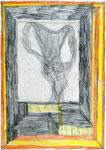 Josef Hofer, ohne Titel, I 2011, Bleistift und Farbstifte auf Papier, 42 x 29,6 cm, verfügbar / disponible / available: Galerie am Stein Monika Perzl, Schärding