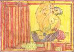 Josef Hofer, ohne Titel, VIII 2013, Bleistift und Farbstifte auf Papier, 29,6 x 42 cm, Privatbesitz / propriété privée / private property