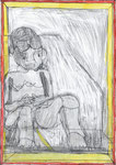Josef Hofer, ohne Titel, XII 2013, Bleistift und Farbstifte auf Papier, 42 x 29,6 cm, Privatbesitz / propriété privée / private property