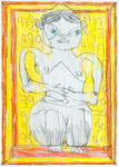 Josef Hofer, ohne Titel, IV 2014, Bleistift und Farbstifte auf Papier, 29,6 x 21 cm, Privatbesitz / propriété privée / private property