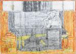 Josef Hofer, ohne Titel, VI 2012, Bleistift und Farbstifte auf Papier, 63 x 88 cm, verfügbar / disponible / available: Galerie Christian Berst, Paris