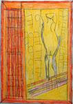 Josef Hofer, ohne Titel, VII 2016, Bleistift und Farbstifte auf Papier, 42 x 29,6 cm, verfügbar / disponible / available: Elisabeth Telsnig, Elsbethen