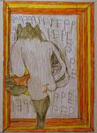 Josef Hofer, ohne Titel, II 2015, Bleistift und Farbstifte auf Papier, 42 x 29,6 cm, verfügbar / disponible / available: Galerie Latal Zürich