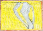 Josef Hofer, ohne Titel, V 2014, Bleistift und Farbstifte auf Papier, 29,6 x 42 cm,  Privatbesitz / propriété privée / private property