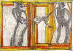 Josef Hofer, ohne Titel, III 2005, Bleistift und Farbstifte auf Papier, 29,6 x 42 cm, Privatbesitz / propriété privée / private property