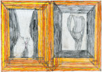 Josef Hofer, ohne Titel, IX 2010, Bleistift und Farbstifte auf Papier, 29,6 x 42 cm, verfügbar / disponible / available: Elisabeth Telsnig, Elsbethen