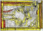 Josef Hofer, ohne Titel, 2005, Bleistift und Farbstifte auf Papier, 30 x 42 cm, Collection de l'Art Brut, Lausanne
