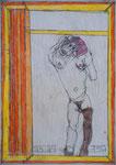 Josef Hofer, ohne Titel, XII 2012, Bleistift und Farbstifte auf Papier, 42 x 29,6 cm, verfügbar / disponible / available: Galerie Christian Berst, Paris