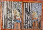 Josef Hofer, ohne Titel, VI 2014, Bleistift und Farbstifte auf Papier, 50 x 70 cm, verfügbar / disponible / available: Florian Sundheimer Kunsthandel GmbH, München