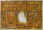 Josef Hofer, ohne Titel, XI 2004, Bleistift und Farbstifte auf Papier, 51 x 73 cm, Privatbesitz / propriété privée / private property