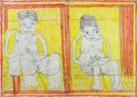 Josef Hofer, ohne Titel, XII 2013, Bleistift und Farbstifte auf Papier, 50 x 70 cm, verfügbar / disponible / available: Galerie Christian Berst, Paris