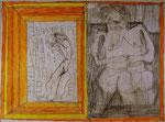 Josef Hofer, ohne Titel, I 2015, Bleistift und Farbstifte auf Papier, 44 x 60 cm, verfügbar / disponible / available: Florian Sundheimer Kunsthandel GmbH, München
