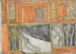 Josef Hofer, ohne Titel, 2003, Bleistift und Farbstifte auf Papier, 51 x 73 cm, Collection de l'Art Brut, Lausanne
