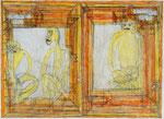 Josef Hofer, ohne Titel, III 2008, Bleistift und Farbstifte auf Papier, 44 x 60 cm, Privatbesitz / propriété privée / private property