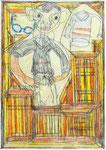 Josef Hofer, ohne Titel, III 2006, Bleistift und Farbstifte auf Papier, 42 x 29,6 cm, Privatbesitz / propriété privée / private property