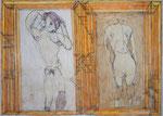 Josef Hofer, ohne Titel, I 2013, Bleistift und Farbstifte auf Papier. 50 x 70 cm, Privatbesitz / propriété privée / private property
