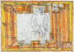 Josef Hofer, ohne Titel, VI 2007, Bleistift und Farbstifte auf Papier, 29,6 x 42 cm, verfügbar / disponible / available: Elisabeth Telsnig, Elsbethen