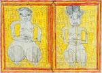 Josef Hofer, ohne Titel, IV 2014, Bleistift und Farbstifte auf Papier, 50 x 70 cm, verfügbar / disponible / available: Galerie Christian Berst, Paris