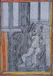 Josef Hofer, ohne Titel, V 2012, Bleistift und Farbstifte auf Papier, 42 x 29,6 cm, verfügbar / disponible / available: Galerie Christian Berst, Paris