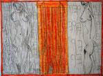 Josef Hofer, ohne Titel, VIII 2016, Bleistift und Farbstifte auf Papier, 44 x 60 cm, verfügbar / disponible / available: Elisabeth Telsnig, Elsbethen