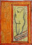 Josef Hofer, ohne Titel, III 2016, Bleistift und Farbstifte auf Papier, 29,6 x 21 cm, verfügbar / disponible / available: Florian Sundheimer Kunsthandel GmbH, München